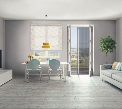 Insektenschutz Plissee Wohnzimmer